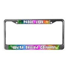 Hippie White Bellied Caique License Plate Frame