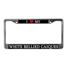 Love White Bellied Caiques License Plate Frame
