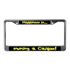 HI Owning Caique License Plate Frame