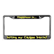 HI Biting Caique License Plate Frame