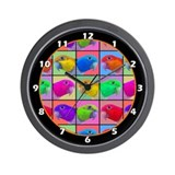 Pop Art White Bellied Caique Wall Clock