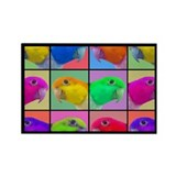 Pop Art WB Caique Rectangle Magnet