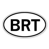 BRT Oval Sticker (50 pk)