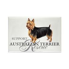 Australian Terrier Rescue Rectangle Magnet