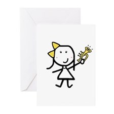 Girl & Trumpet Greeting Cards (Pk of 10)