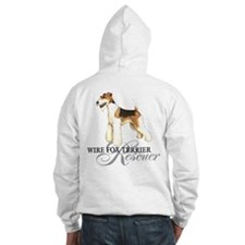 Wire Fox Terrier Rescue Hoodie