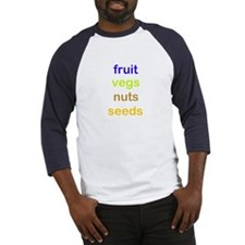fruit vegs nuts seeds Baseball Jersey