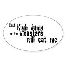 Must High Jump Oval Sticker (50 pk)
