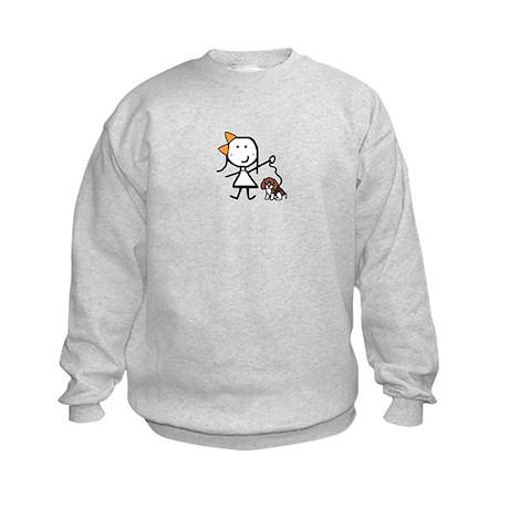 Girl & Beagle Kids Sweatshirt