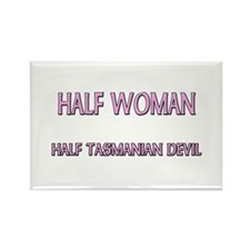 Half Woman Half Tasmanian Devil Rectangle Magnet