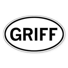 GRIFF Oval Sticker (10 pk)