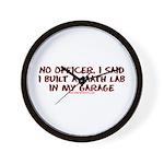No Officer I Built A Math Lab Wall Clock