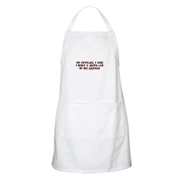 No Officer I Built A Math Lab BBQ Apron | Gifts For A Geek | Geek T-Shirts