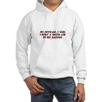 No Officer I Built A Math Lab Hooded Sweatshirt | Gifts For A Geek | Geek T-Shirts