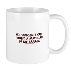 No Officer I Built A Math Lab Mug