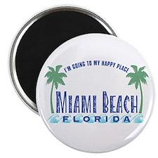 Miami Beach Happy Place - Magnet