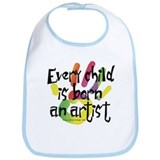 Every Child is Born an Artist Bib