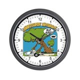 Nature vs. Sport Utility Vehicle Wall Clock