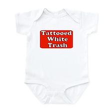 TATTOOED WHITE TRASH Onesie