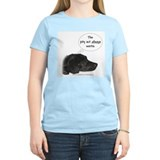 Pity Act- Black Lab Women's Pink T-Shirt