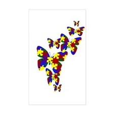 Burst of butterflies Rectangle Decal