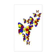 Burst of butterflies Rectangle Decal