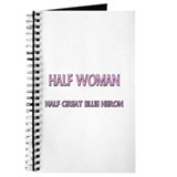 Half Woman Half Great Blue Heron Journal