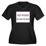 Half Woman Half Great Blue Heron Women's Plus Size