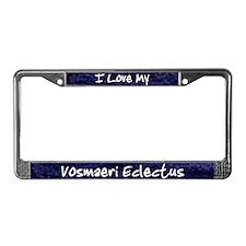 Funky Love Vosmaeri Eclectus License Plate Frame