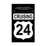 Cruising 24 (Telegraph Rd) Rectangle Decal