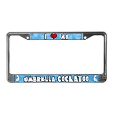 Love Umbrella Cockatoo License Plate Frame Cartoon