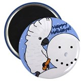 Snowman Umbrella Cockatoo Christmas Magnet