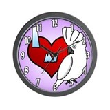 I Love My Umbrella Cockatoo Clock (Cartoon)