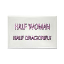 Half Woman Half Dragonfly Rectangle Magnet