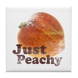Vintage Just Peachy Tile Coaster