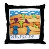 Dunes and Dells - Beach Throw Pillow
