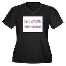Half Woman Half Condor Women's Plus Size V-Neck Da