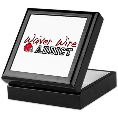 Waiver Wire Addict Keepsake Box