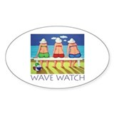 Wave Watch - Beach Oval Decal