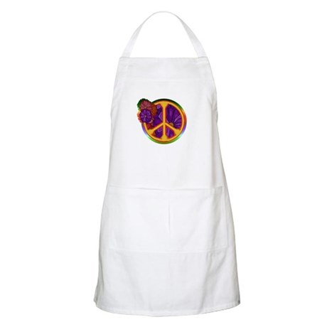 Flower Power Peace Sign BBQ Apron