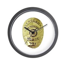 Metro PD Sergeant Wall Clock