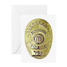 Metro PD Sergeant Greeting Card