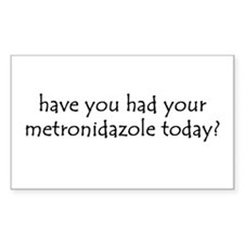 metronidazole Rectangle Sticker 10 pk)
