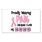 Proudly Wearing Pink 2 (Nana) Rectangle Decal