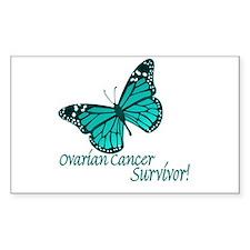 Ovarian Cancer Survivor Rectangle Decal