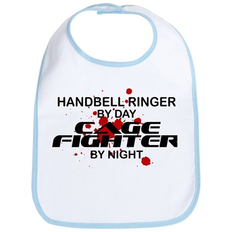 Handbell Ringer Cage Fighter by Night Bib