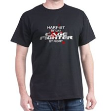 Harpist Cage Fighter by Night T-Shirt