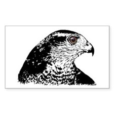 Goshawk B/W Rectangle Decal