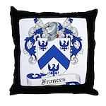 Frances Family Crest Throw Pillow