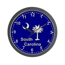 South Carolina Palmetto and Crescent Wall Clock